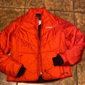 SPYDER PUFFER BRIGHT RED JACKET SIZE 8